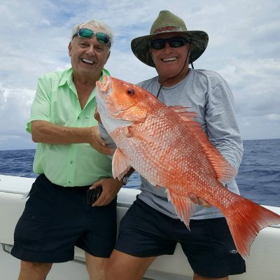 George & roland with Red Snapper