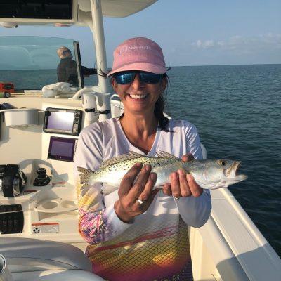Jane Wooten w nice trout